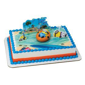 Despicable Me Beach Party Cake Decoration Set