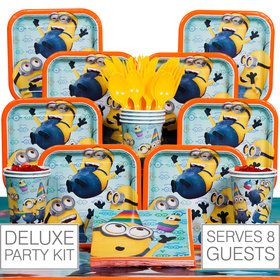Despicable Me Birthday Party Deluxe Tableware Kit Serves 8