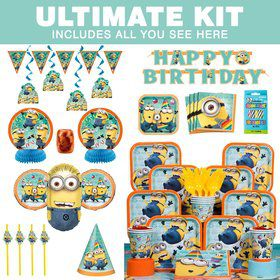 Despicable Me Birthday Party Ultimate Tableware Kit Serves 8