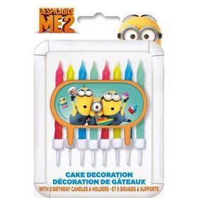 Despicable Me Cake Decoration and Candles (Each)