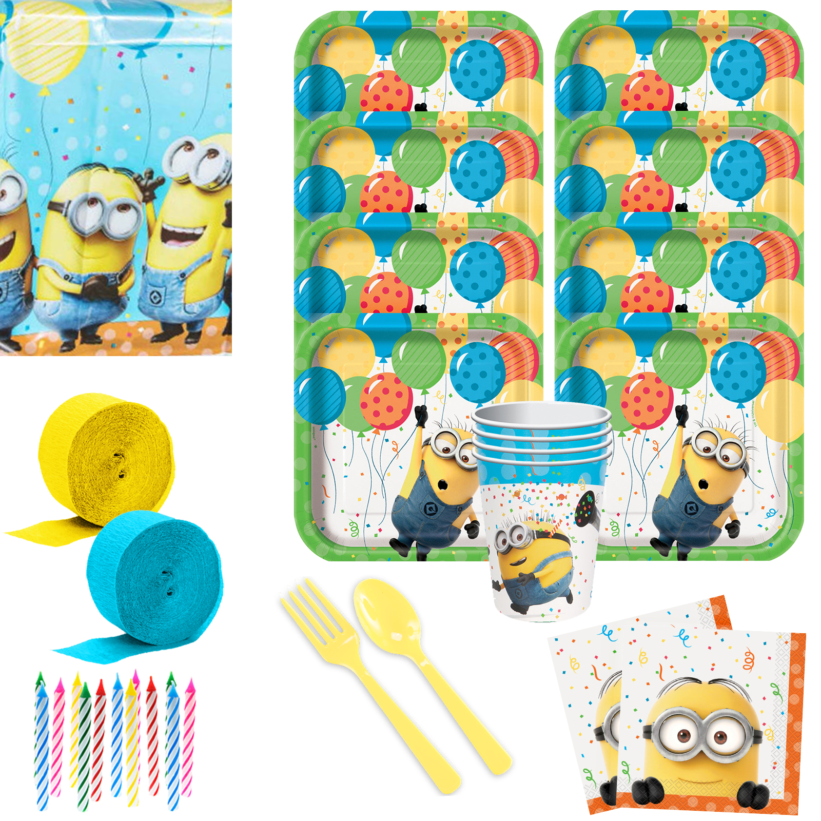 Despicable Me Birthday Party Deluxe Tableware Kit Serves 8 BBKIT273A
