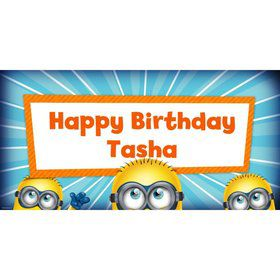 Despicable Me Personalized Oversized Banner 60x30""