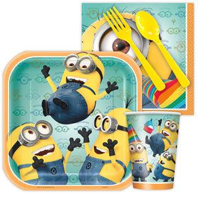 Despicable Me Standard Birthday Party Tableware Kit Serves 8