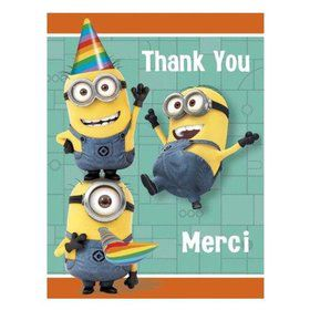 Despicable Me Thank You Cards (8 Pack)