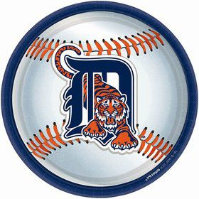 "Detroit Tigers Plates, 9"" (18 Pack)"