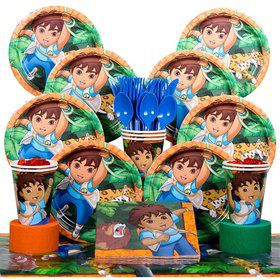 Diego Birthday Party Deluxe Tableware Kit Serves 8