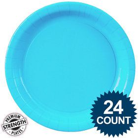 Bright Blue Lunch Plates (24)