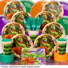 Dinosaur Adventure Birthday Party Deluxe Tableware Kit Serves 8