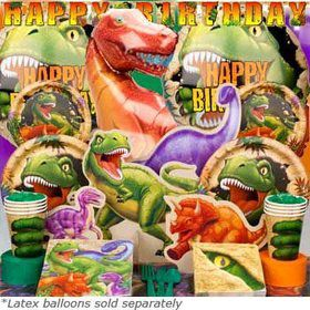 Dinosaur Adventure Birthday Party Ultimate Tableware Kit Serves 8