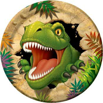 Dinosaur Adventure Dinner Plate 8ct Birthday Party Supplies Plates
