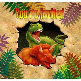 Dinosaur Adventure Invitations (8-pack)