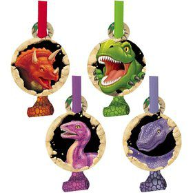 Dinosaur Adventure Party Blowers (8-pack)