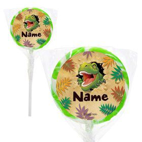 "Dinosaur Adventure Personalized 2"" Lollipops (20 Pack)"