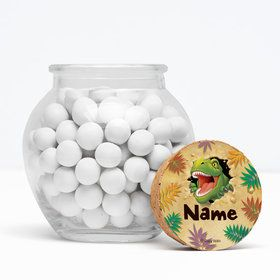 "Dinosaur Adventure Personalized 3"" Glass Sphere Jars (Set of 12)"