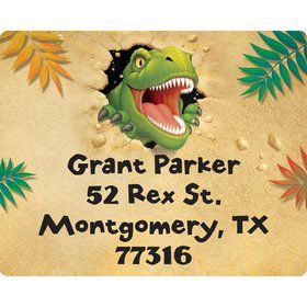 Dinosaur Adventure Personalized Address Labels (Sheet of 15)