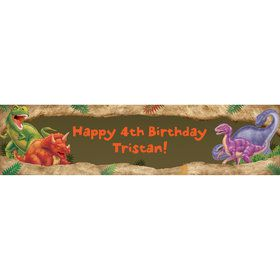 Dinosaur Adventure Personalized Banner (each)