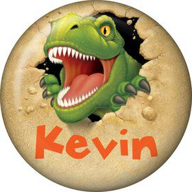 Dinosaur Adventure Personalized Mini Button (Each)