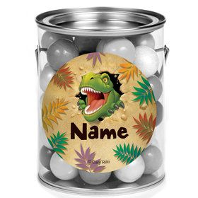 Dinosaur Adventure Personalized Mini Paint Cans (12 Count)