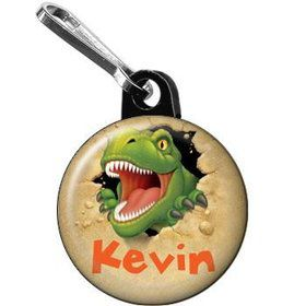 Dinosaur Adventure Personalized Mini Zipper Pull (each)