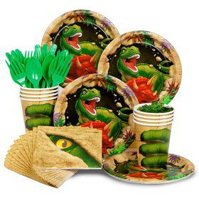 Dinosaur Adventure Standard Tableware Kit Serves 8