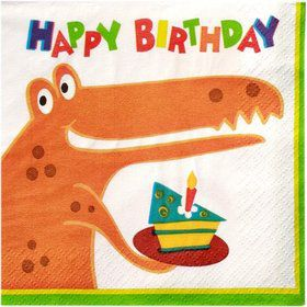 Dinosaur Birthday Beverage Napkins (16-pack)