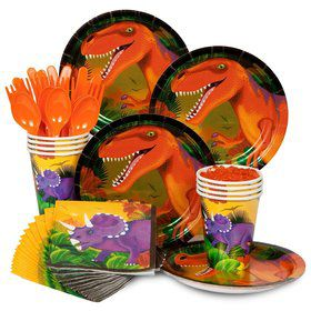 Dinosaur Birthday Party Standard Tableware Kit Serves 8