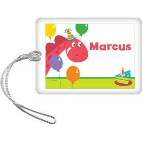 Dinosaur Birthday Personalized Bag Tag (each)