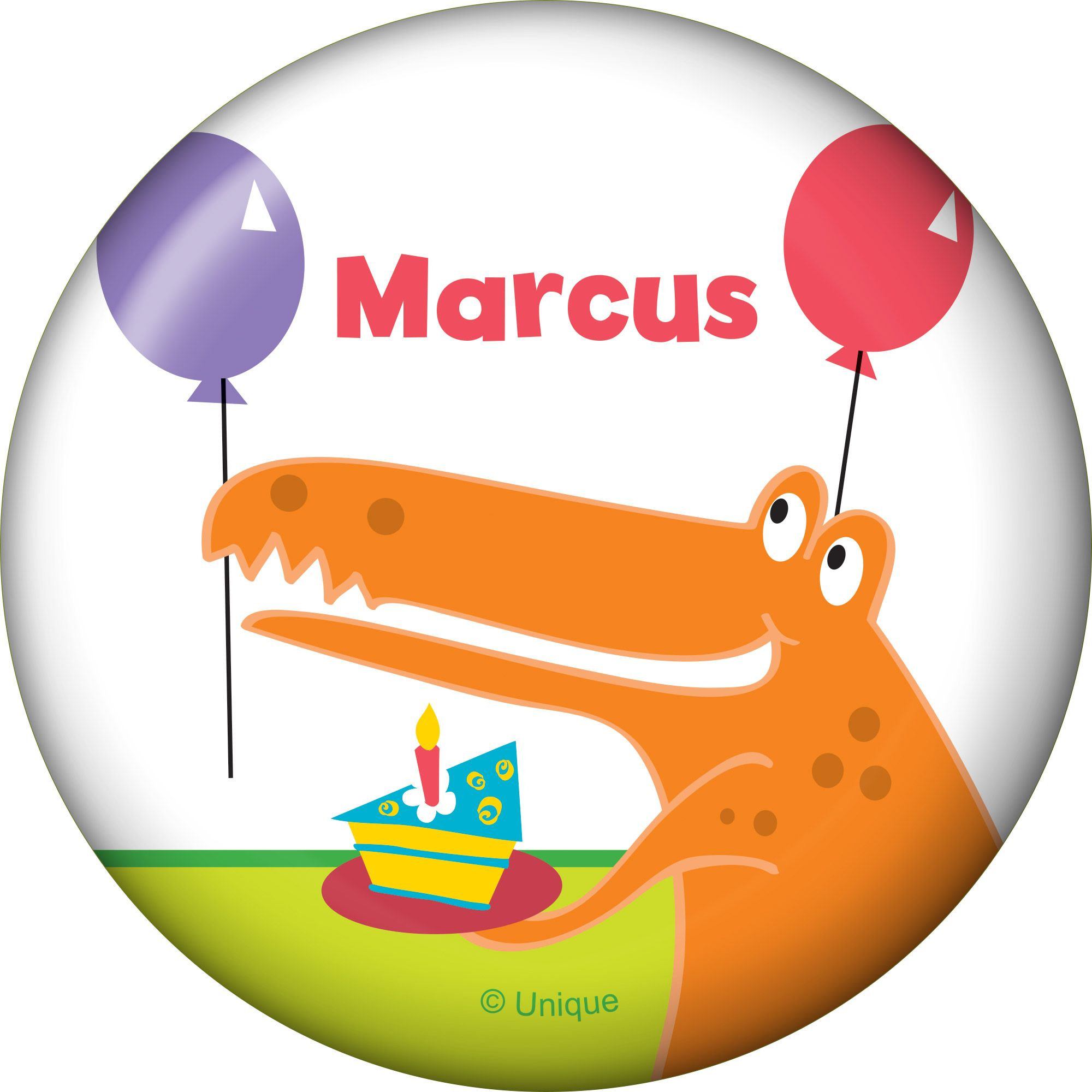 Dinosaur Birthday Personalized Button - Party Supplies BB101613