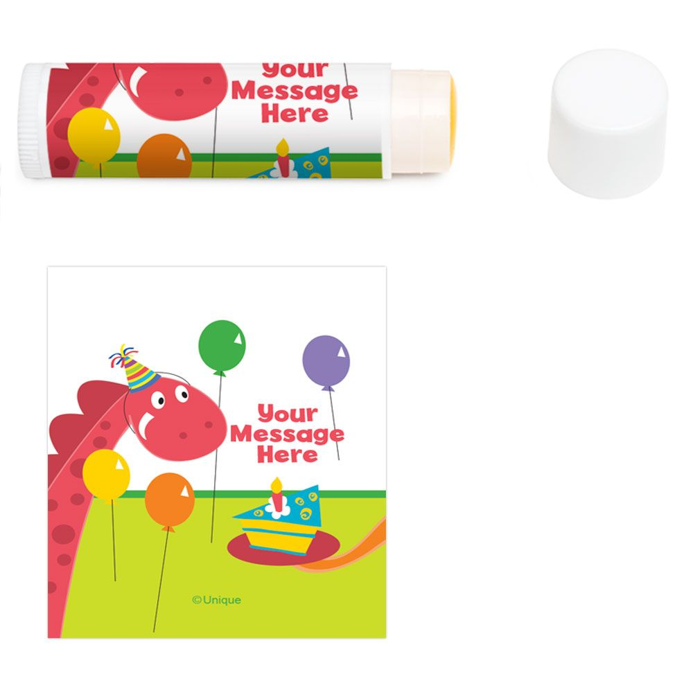Dinosaur Birthday Personalized Lip Balm (12 Pack) BB101611LB