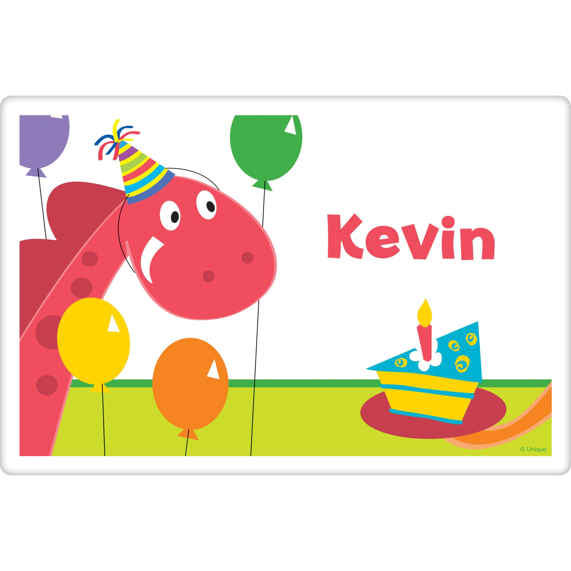 Dinosaur Birthday Personalized Placemat (Each) BB101619