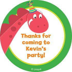 Dinosaur Birthday Personalized Sticker (sheet of 12)