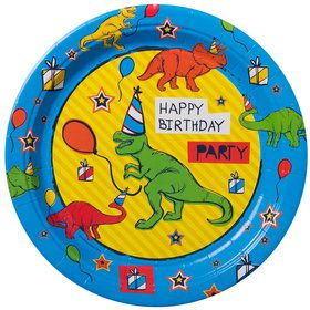 "Dinosaur Fun 9"" Luncheon Plates (8 Count)"