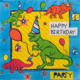 Dinosaur Fun Luncheon Napkins (16 Count)