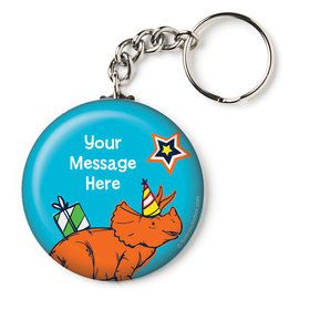 "Dinosaur Fun Personalized 2.25"" Key Chain (Each)"
