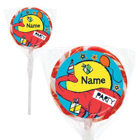 "Dinosaur Fun Personalized 2"" Lollipops (20 Pack)"
