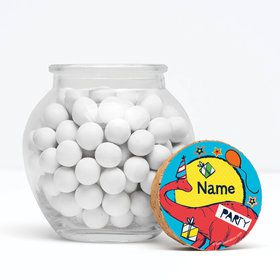 "Dinosaur Fun Personalized 3"" Glass Sphere Jars (Set of 12)"