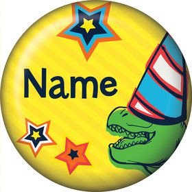 Dinosaur Fun Personalized Mini Button (Each)