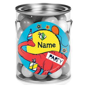 Dinosaur Fun Personalized Mini Paint Cans (12 Count)