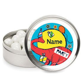 Dinosaur Fun Personalized Mint Tins (12 Pack)