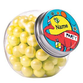 Dinosaur Fun Personalized Plain Glass Jars (10 Count)