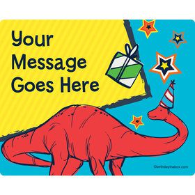 Dinosaur Fun Personalized Rectangular Stickers (Sheet of 15)