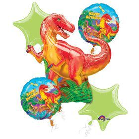 Dinosaur Party Balloon Bouquet (5 PACK)