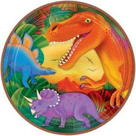 Dinosaur Party Dinner Plates (8-pack)