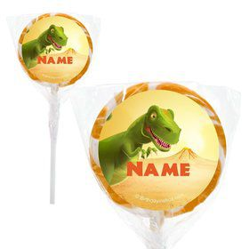 "Dinosaur Party Personalized 2"" Lollipops (20 Pack)"