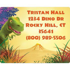 Dinosaur Party Personalized Address Labels (sheet of 15)
