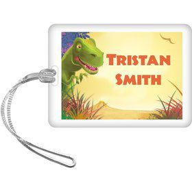 Dinosaur Party Personalized Bag Tag (each)