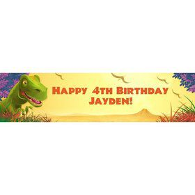 Dinosaur Party Personalized Banner (each)