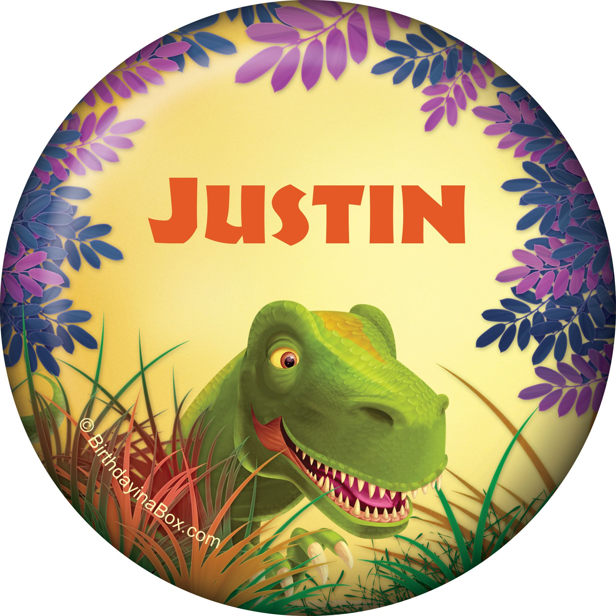 Dinosaur Party Personalized Button (Each) BB1005BT