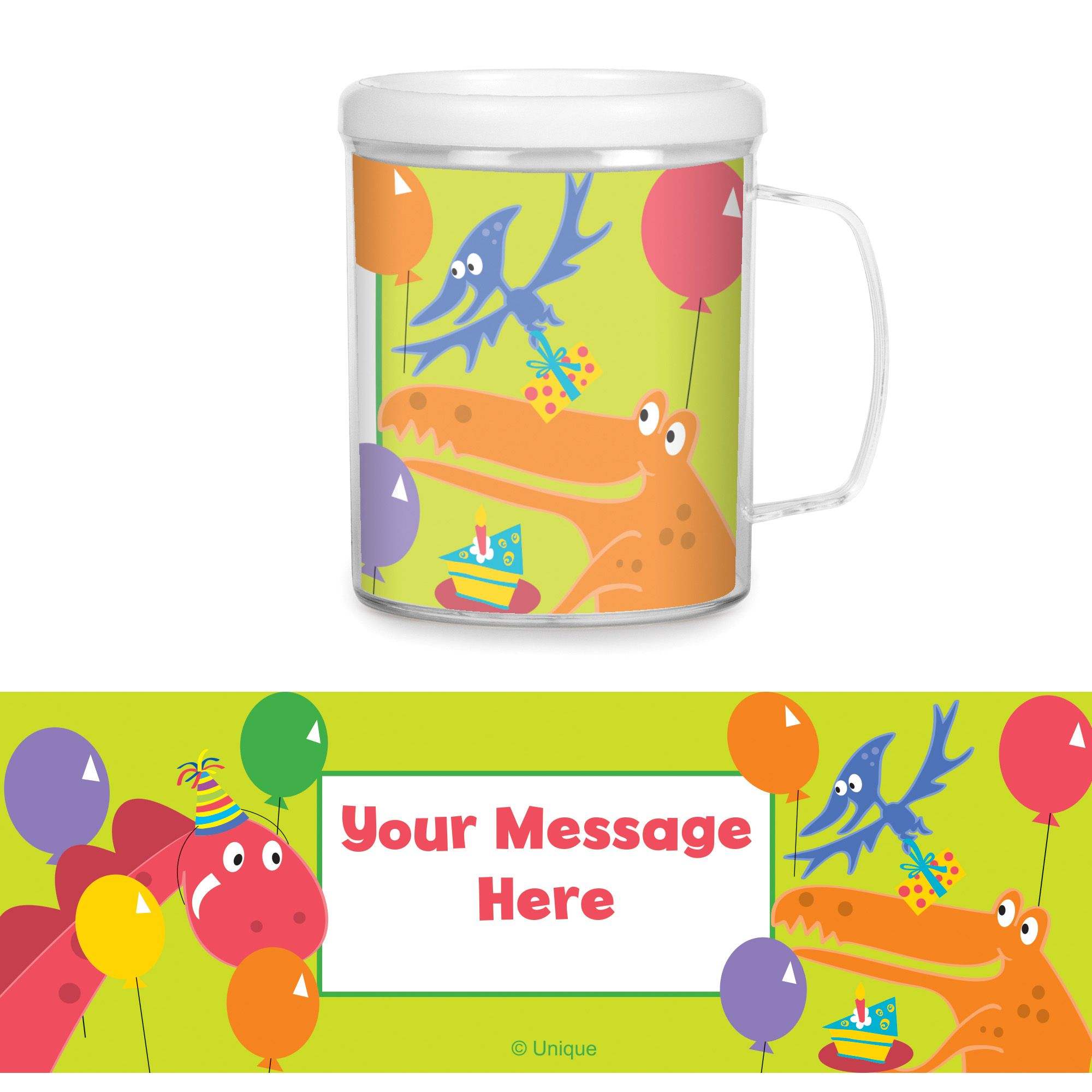 Dinosaur Party Personalized Favor Mugs (Each) BB1005CUP