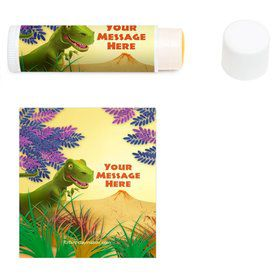 Dinosaur Party Personalized Lip Balm (12 Pack)